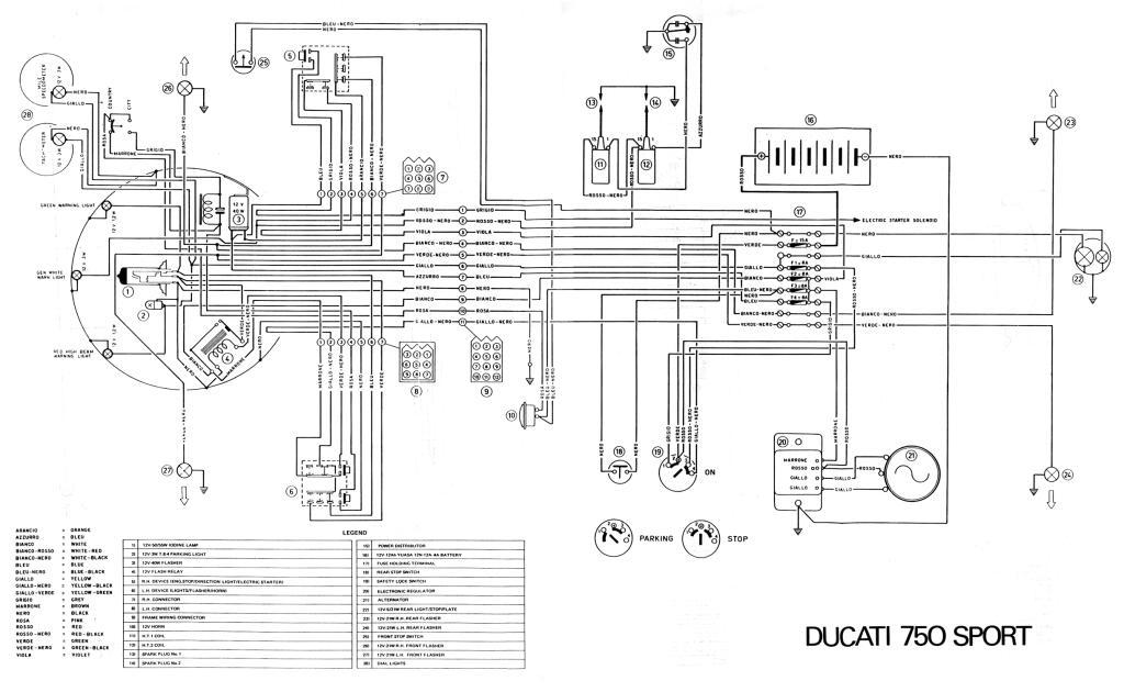 Ducati 1974 750 Sport Wiring Diagram Pdf  1 Mb