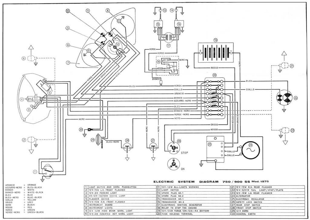 Ducati 1975 750 900ss Wiring Diagram Pdf  167 Kb