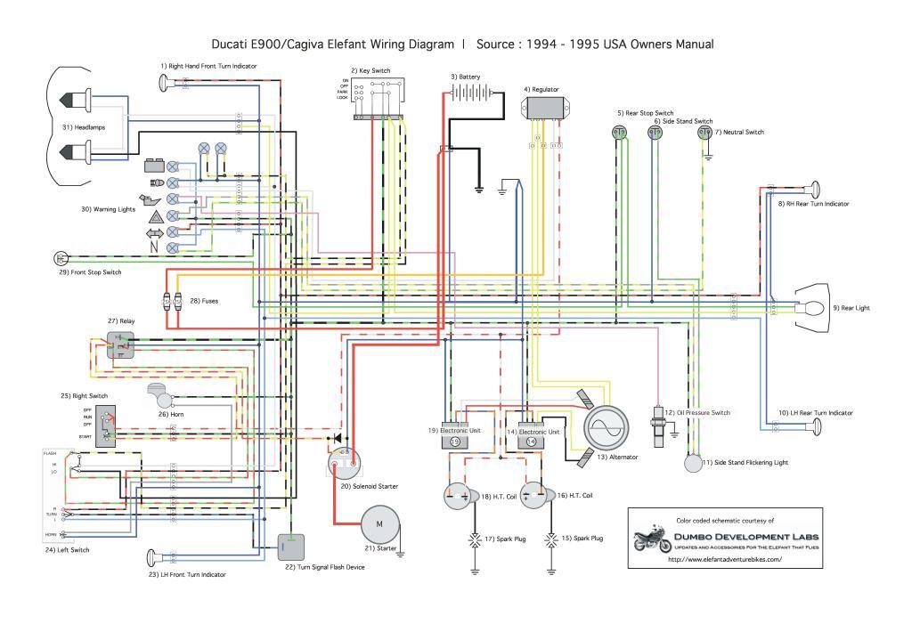 Ducati E900 Wiring Diagram Pdf  395 Kb